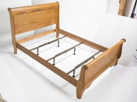 wood bed rail and center supports