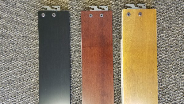 Wood bed rails in three wood colors